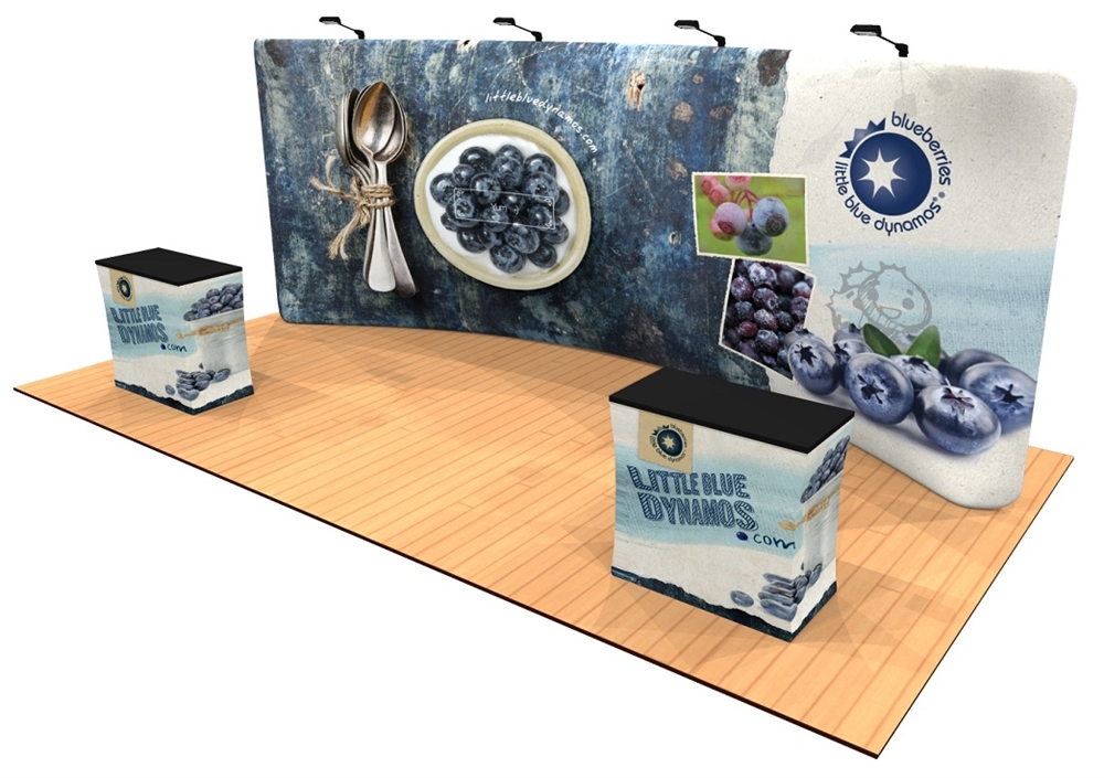 20ft Curve Tension Fabric Display Kit