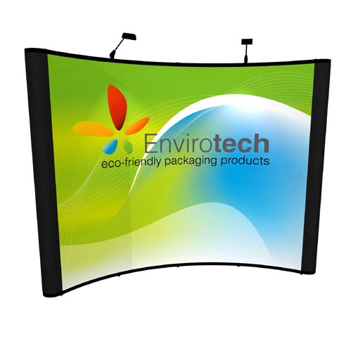 Used 10ft pop up display with graphic panels