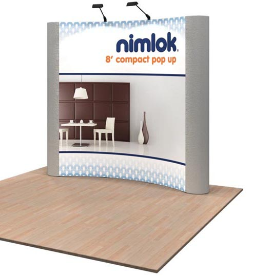 8ft Pop Up Display with Graphics