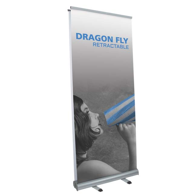 Economy double sided retractable banner stand