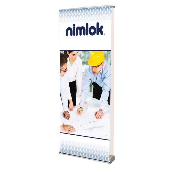 Premium double sided banner stand for trade shows