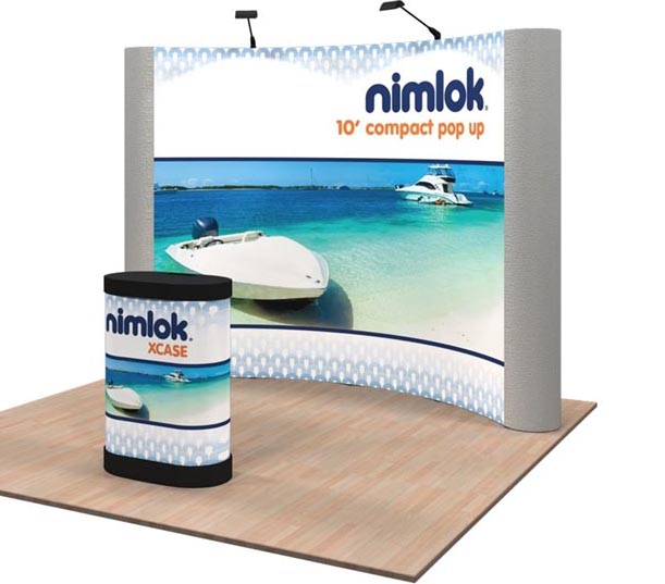 10ft Pop Up Display with Graphics and Counter Conversion