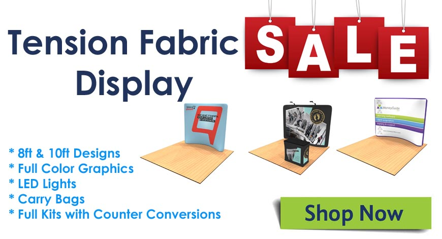 tension fabric display sale
