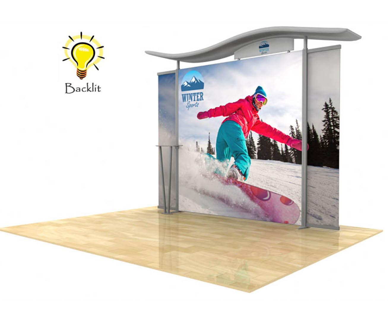 10ft Timberline Light Box Display